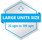 large unit size